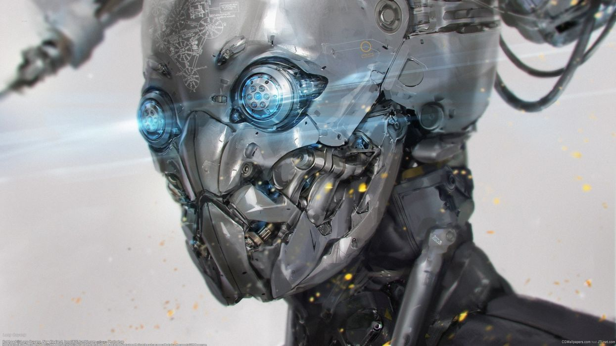 Long Ouyang robot cyborg wallpaper