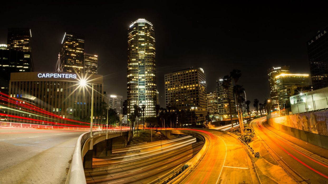 Los Angeles city night wallpaper