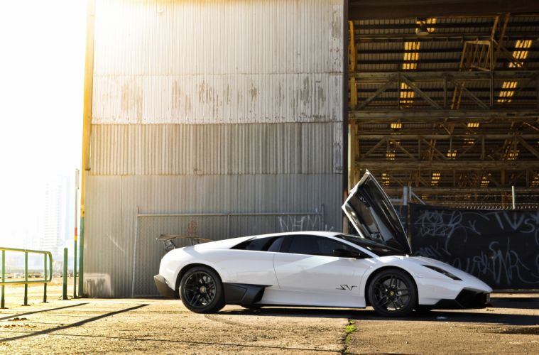 lp670-4 sv Lamborghini lamborghini white murcielago supercar wallpaper