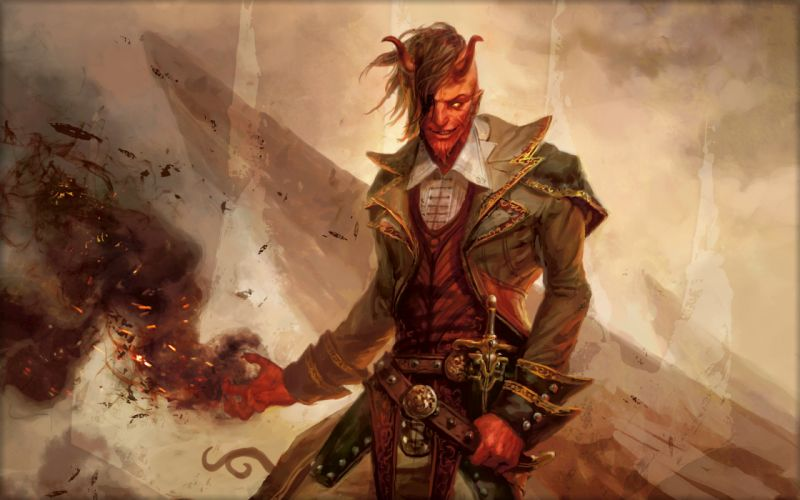 Magic The Gathering Demon Games Fantasy wallpaper