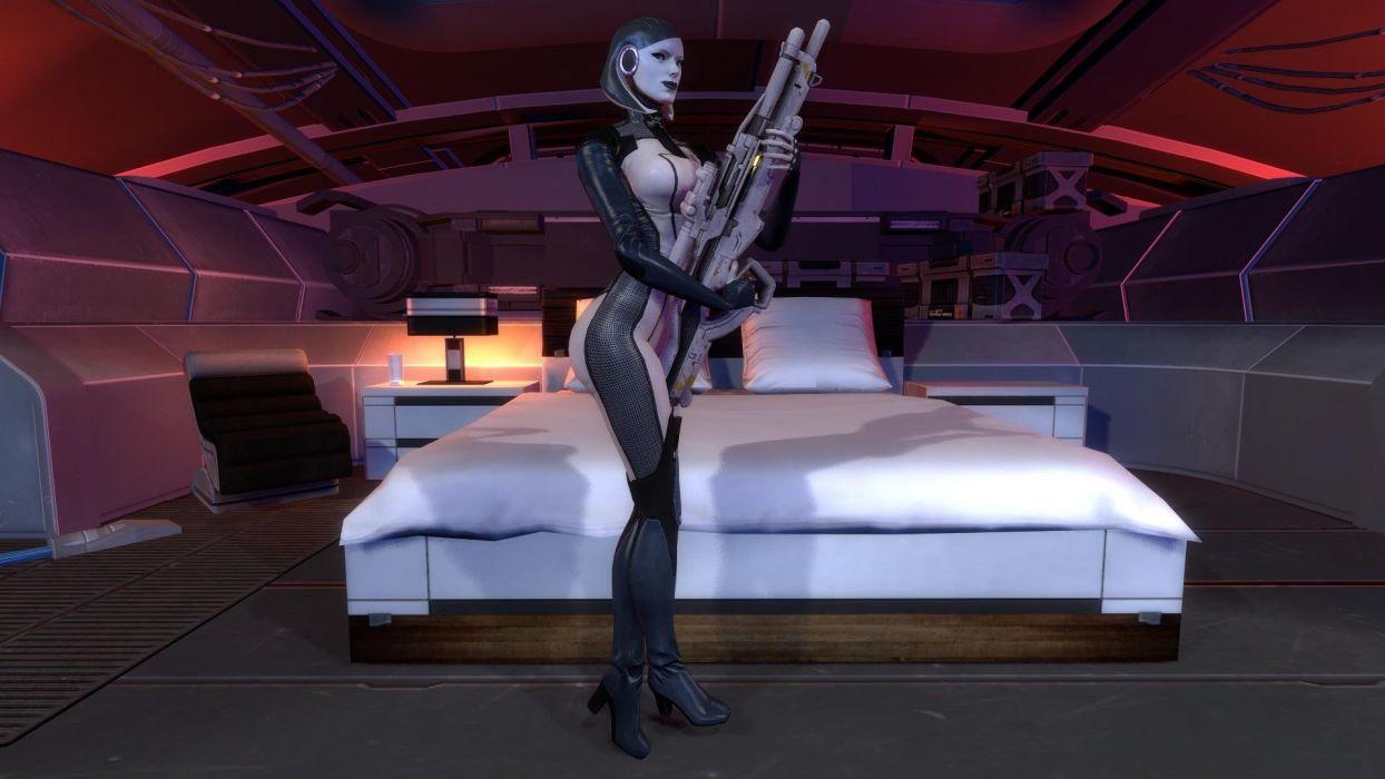 mass effect warrior weapon gun sci-fi wallpaper