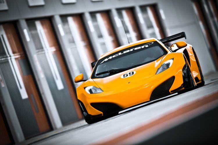 mclaren mp4-12c gt3 supercar yellow wallpaper