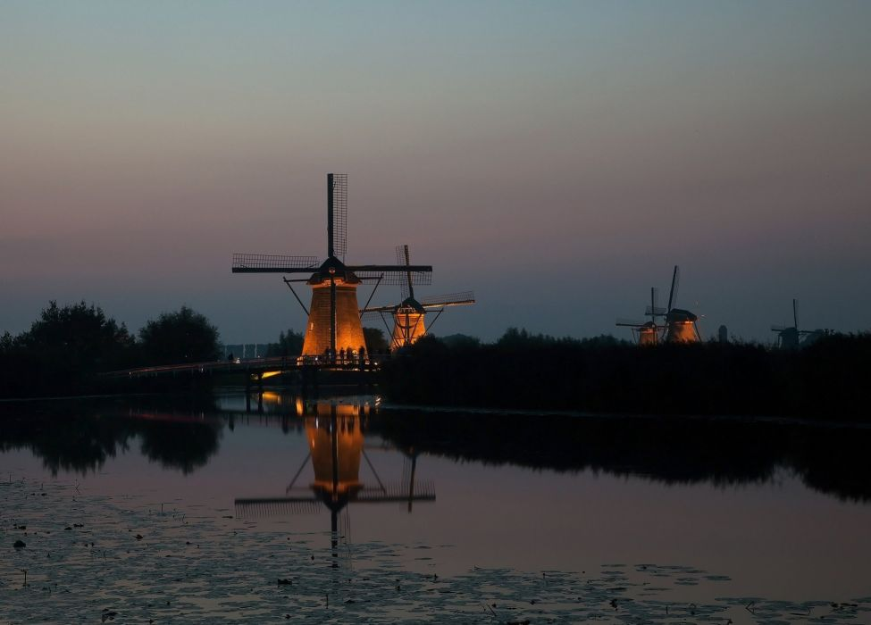 mill netherlands Kinderdijk wallpaper