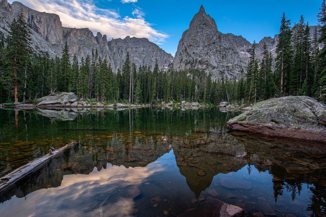 Mirror Lake mountains trees landscape reflection wallpaper
