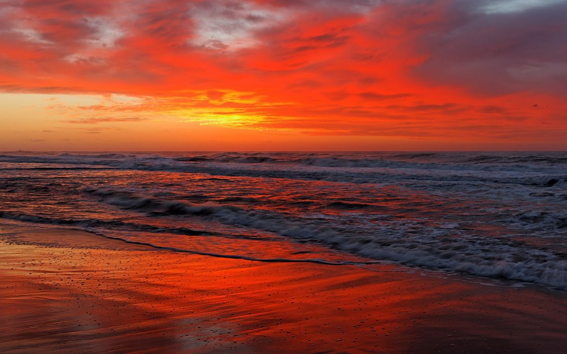 clouds landscapes HDR photography sea beaches wallpaper