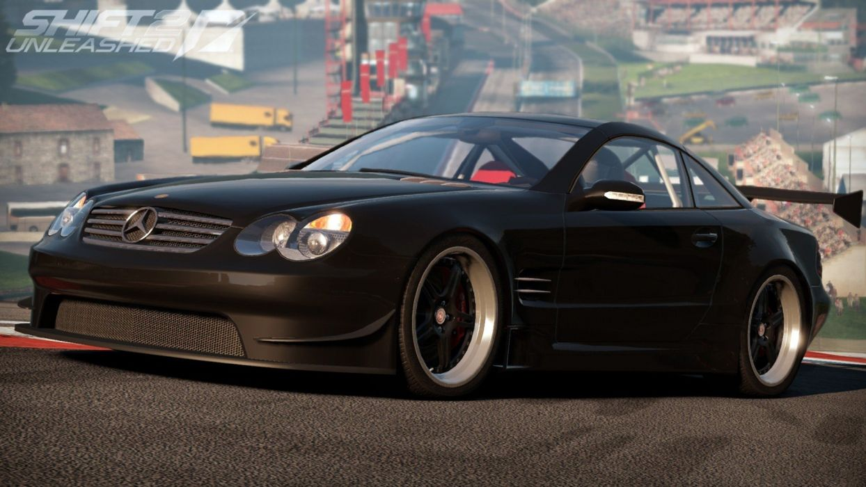 video games cars games Need For Speed Shift 2: Unleashed Mercedes Benz SL65 AMG pc games wallpaper