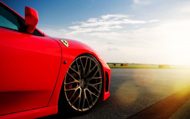 cars sunlight Ferrari F430 wallpaper