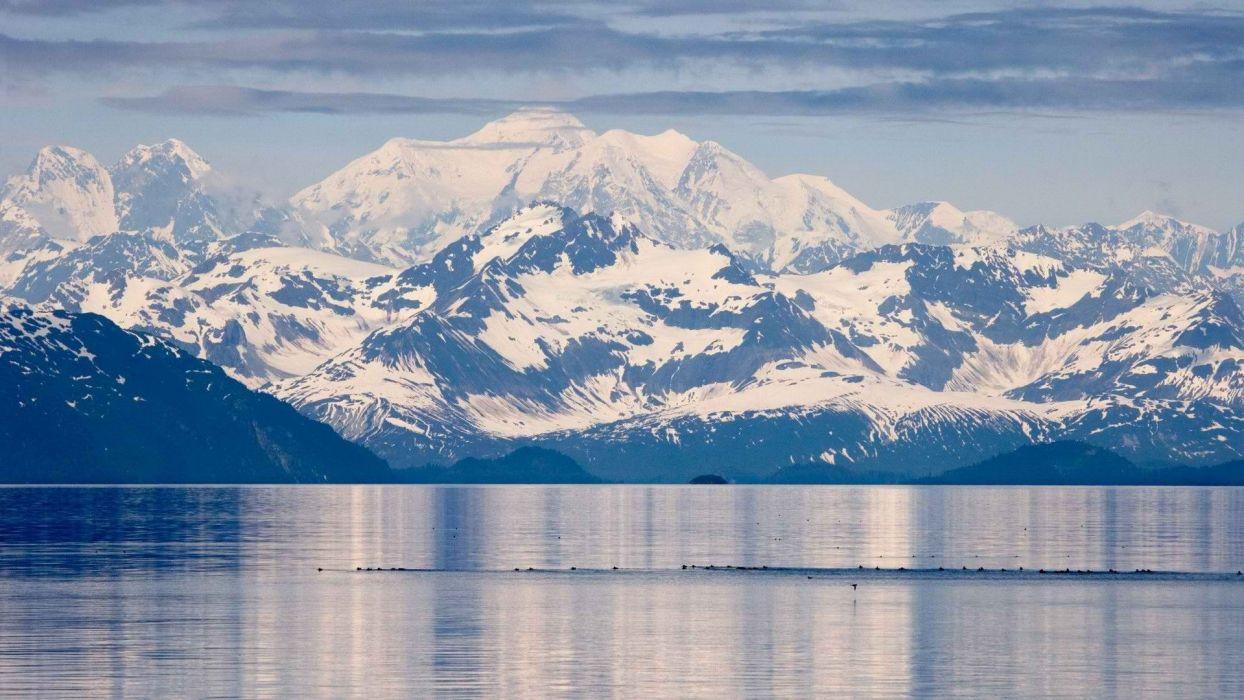 Mountains Alaska Glacier Range National Park Bay Wallpaper