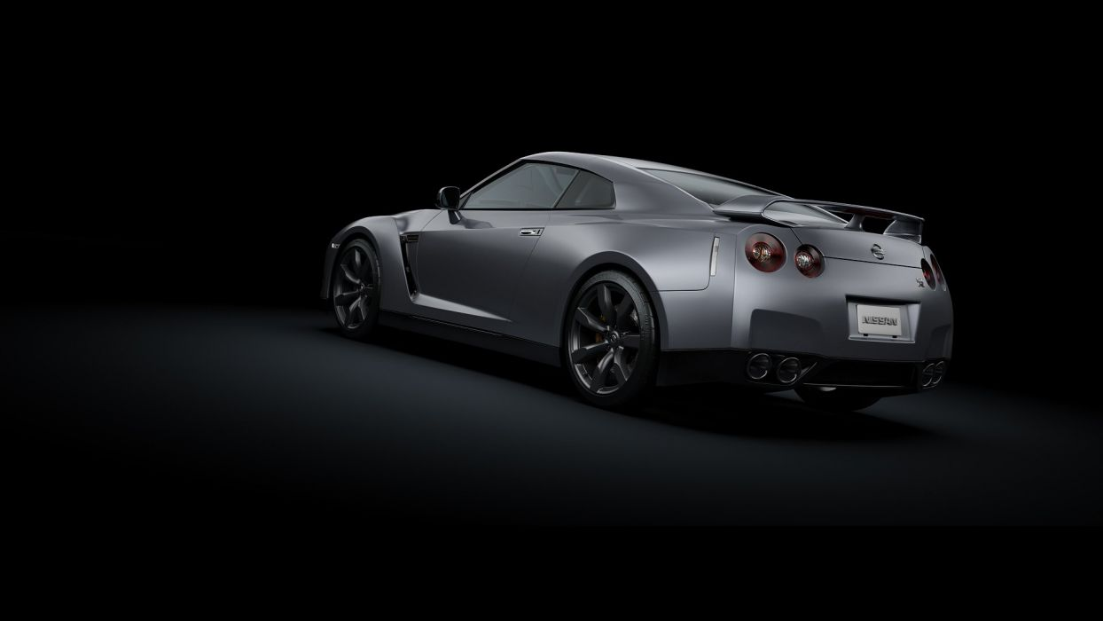 cars vehicles side view Nissan GT-R R35 backview cars wallpaper