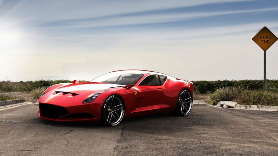 red cars vehicles wheels races Ferrari 612 GTO racing cars speed automobiles wallpaper