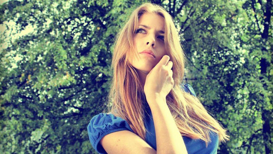blondes women retro Anastasy Dudrina wallpaper