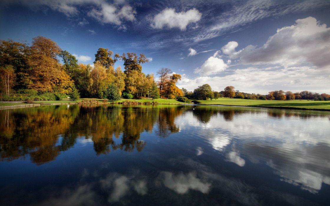 landscapes lakes reflections wallpaper