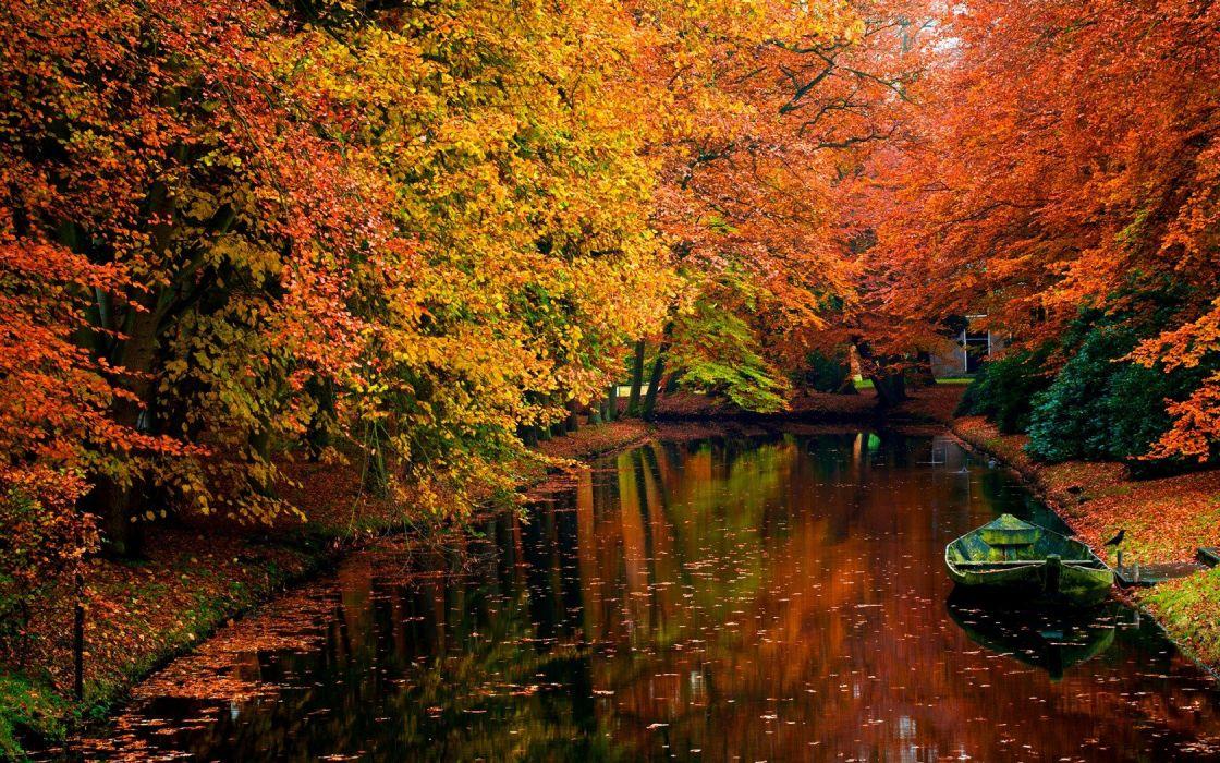 landscapes nature autumn rivers wallpaper