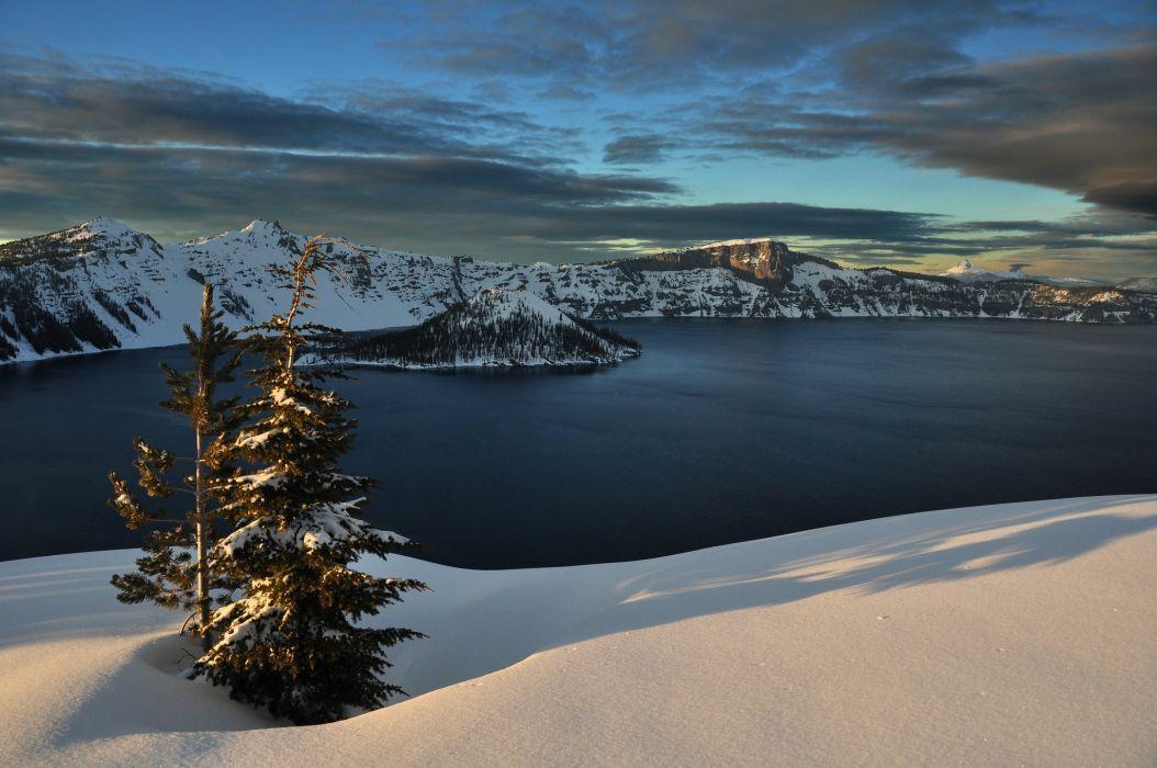 mountain landscape lake wallpaper