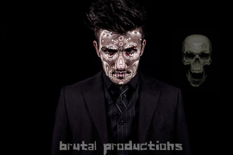 paint dark blood horror fantasy skull wallpaper