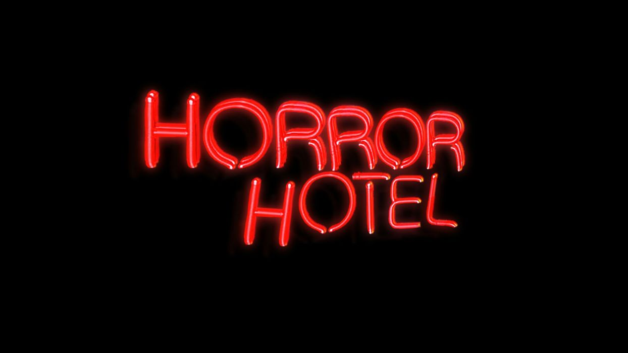 poster horror neon sign wallpaper