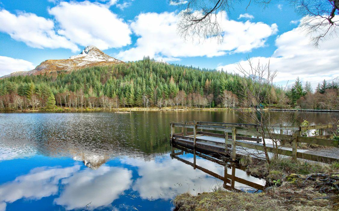 river scotland reflection lake wallpaper