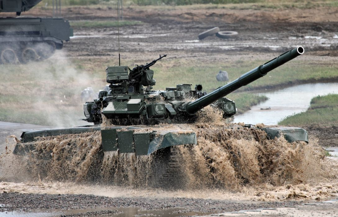 Russian military t-90a the main tank weapon cannon gun wallpaper