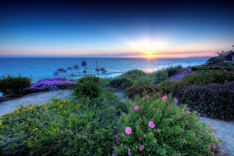 San Clemente California sunset landscape wallpaper