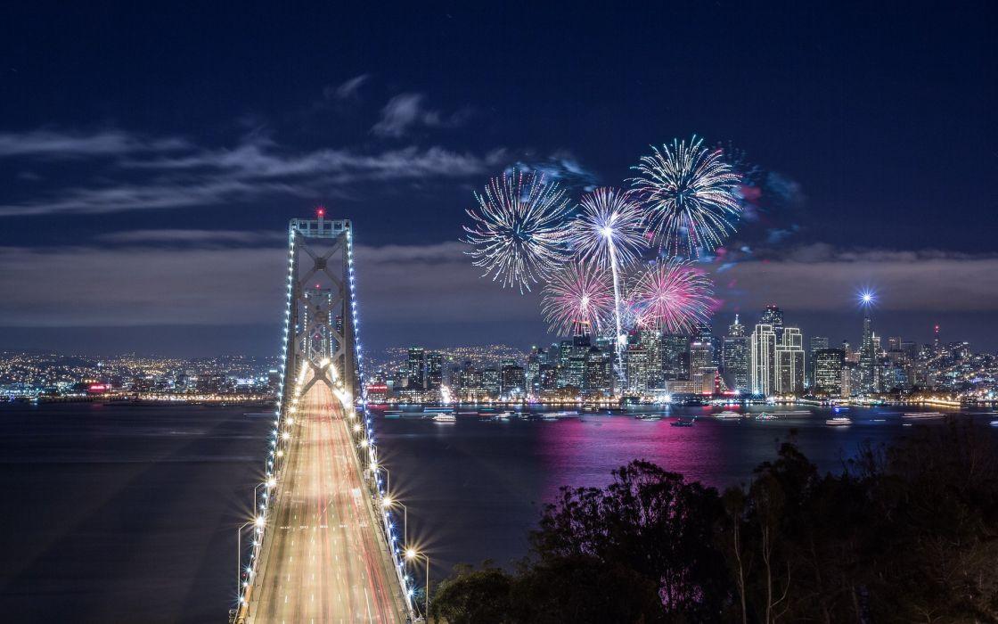 San Francisco California United States fireworks wallpaper