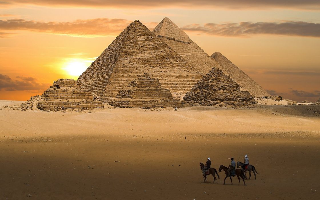 sand pyramid riders Egypt wallpaper