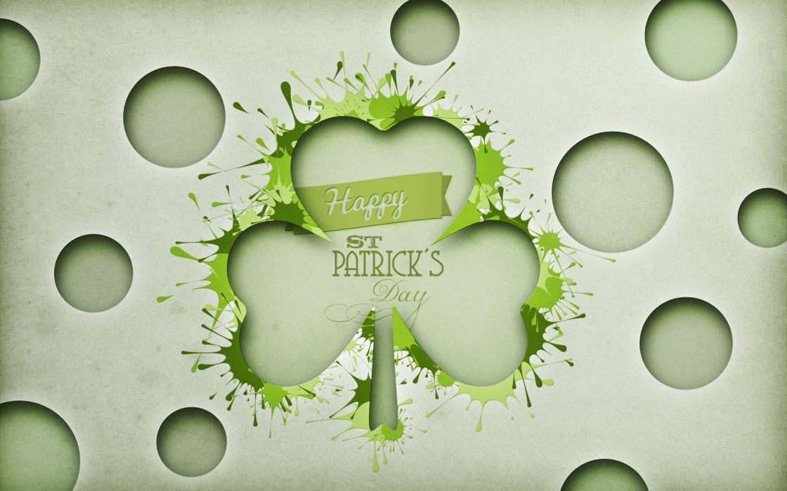 St Patrick's Day Clover Green wallpaper