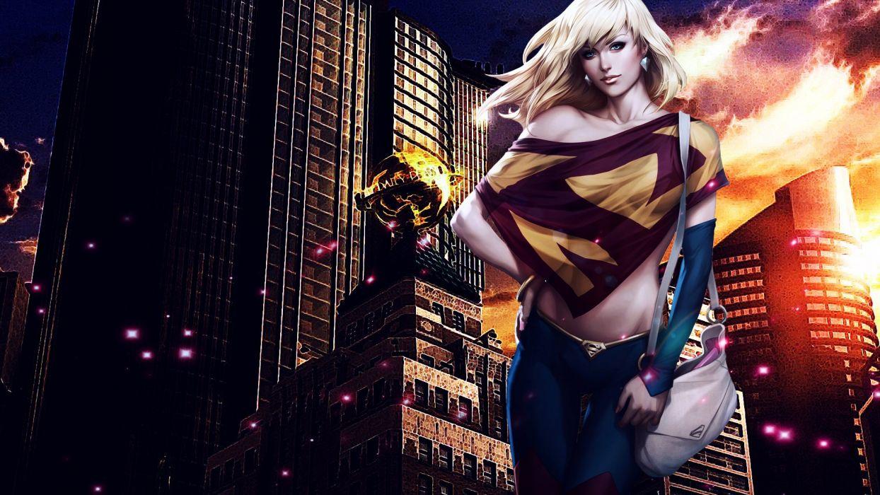 supergirl girl_ look_ hair dc-comics wallpaper