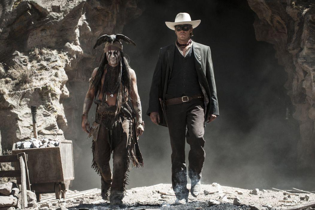 The Lone Ranger (2013 film) Johnny Depp Men Armie Hammer Cowboy Indian wallpaper