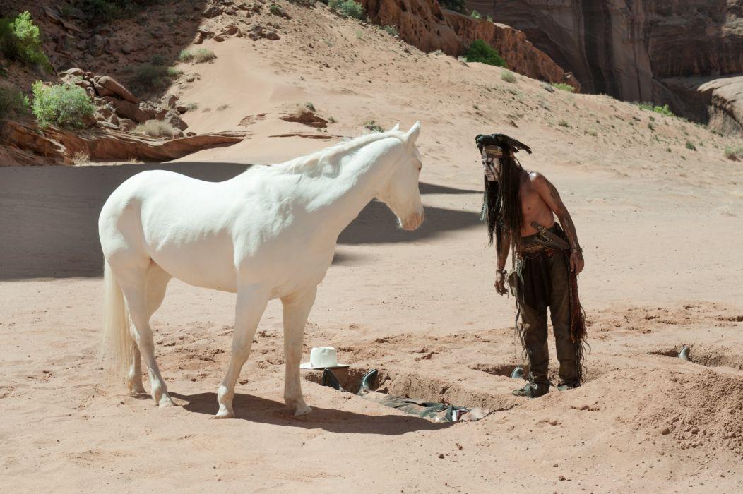 The Lone Ranger (2013 film) Horse Johnny Depp Indian wallpaper
