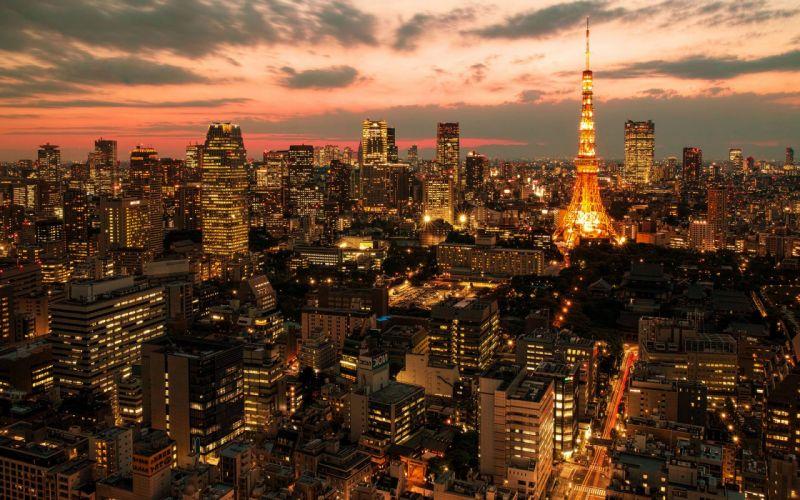 Tokyo Buildings Skyscrapers Tokyo Tower Tower wallpaper
