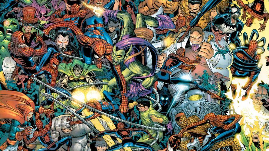 villians batman spiderman superhero wallpaper