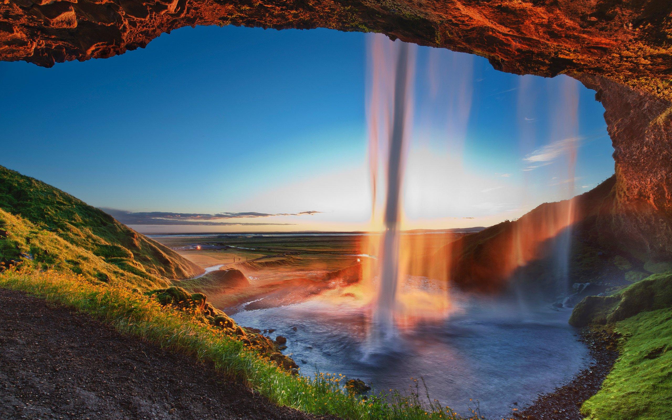 Waterfall Iceland Seljalandsfoss wallpaper | 2560x1600 ...