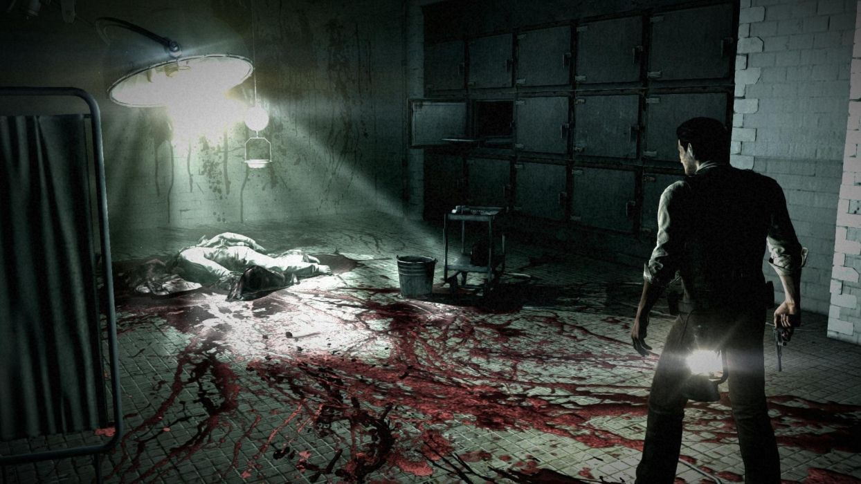 THE EVIL WITHIN survival horror dark blood      rw wallpaper