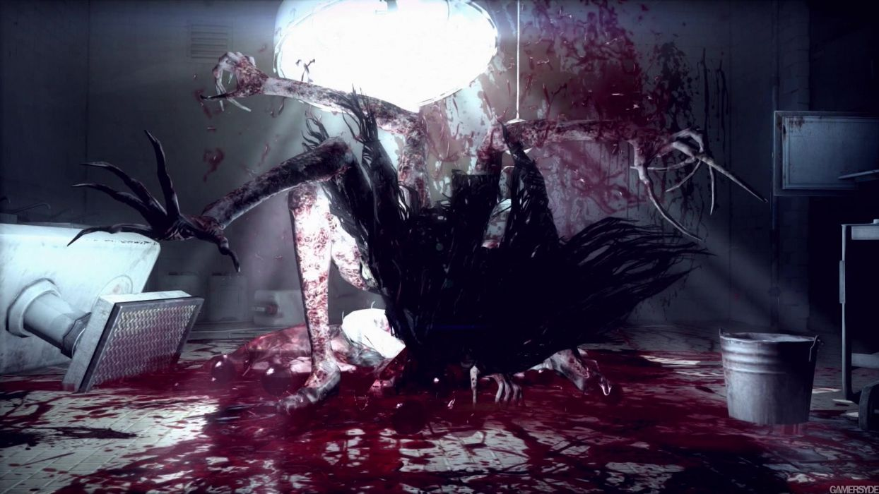 THE EVIL WITHIN survival horror dark blood    ds wallpaper