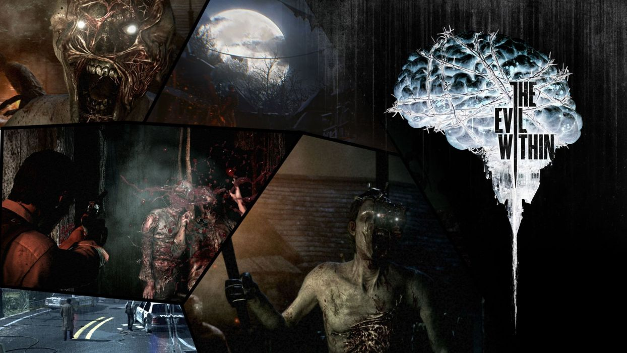 THE EVIL WITHIN survival horror dark blood poster     g wallpaper