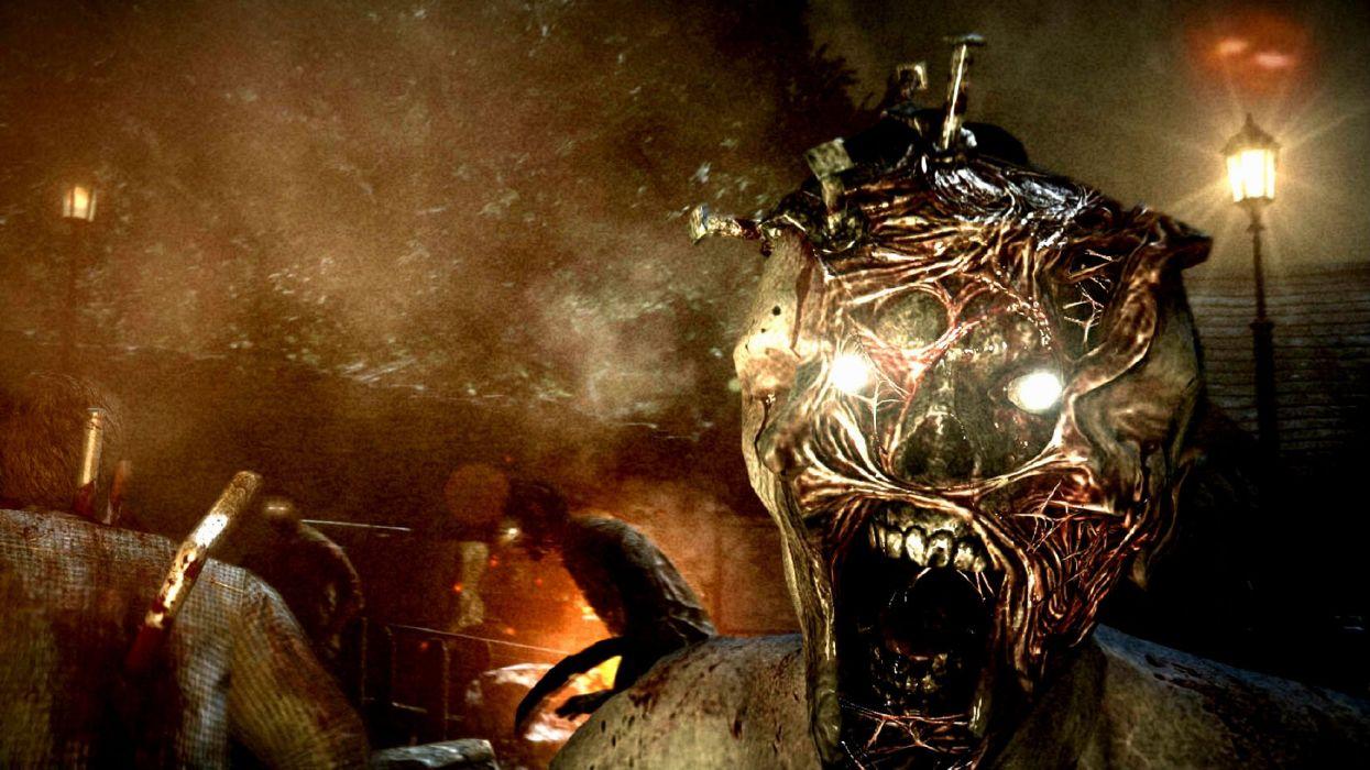 THE EVIL WITHIN survival horror dark blood skull zombie      fd wallpaper