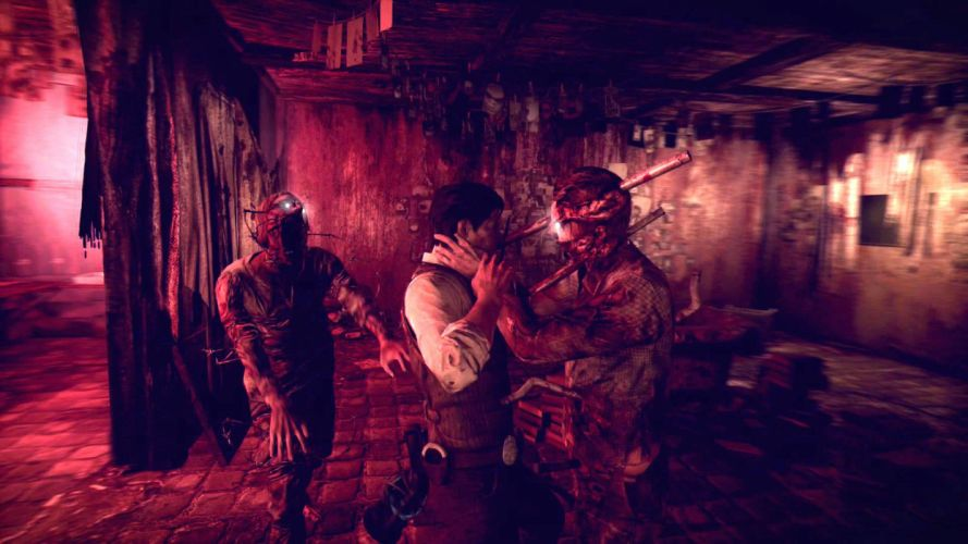 THE EVIL WITHIN survival horror dark blood zombie fa wallpaper