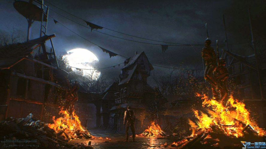 THE EVIL WITHIN survival horror dark fire da wallpaper
