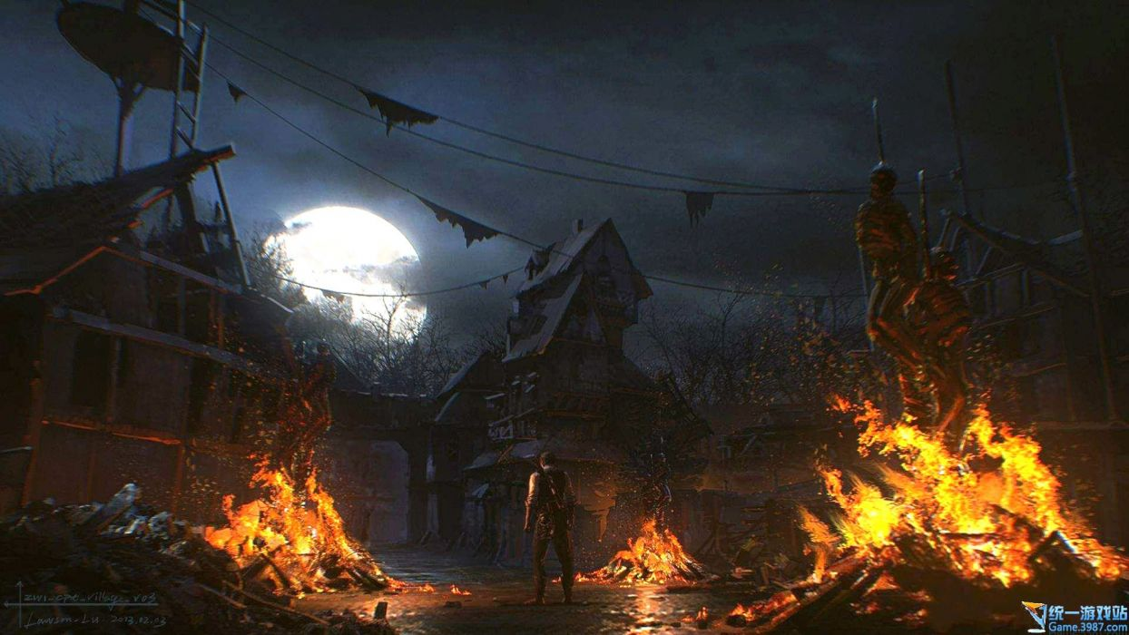 THE EVIL WITHIN survival horror dark fire    da wallpaper