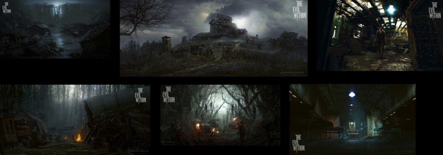 THE EVIL WITHIN survival horror dark poster bx wallpaper