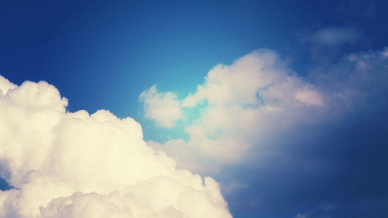clouds artwork wallpaper