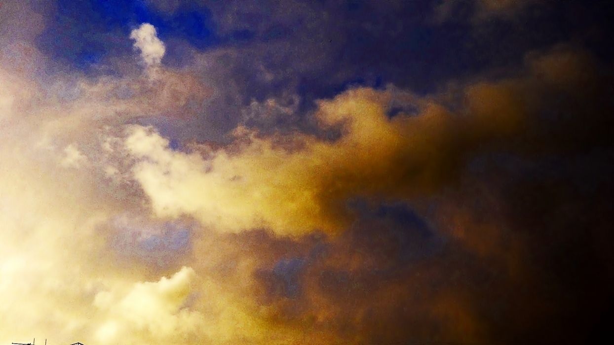 sunset clouds nature skies wallpaper