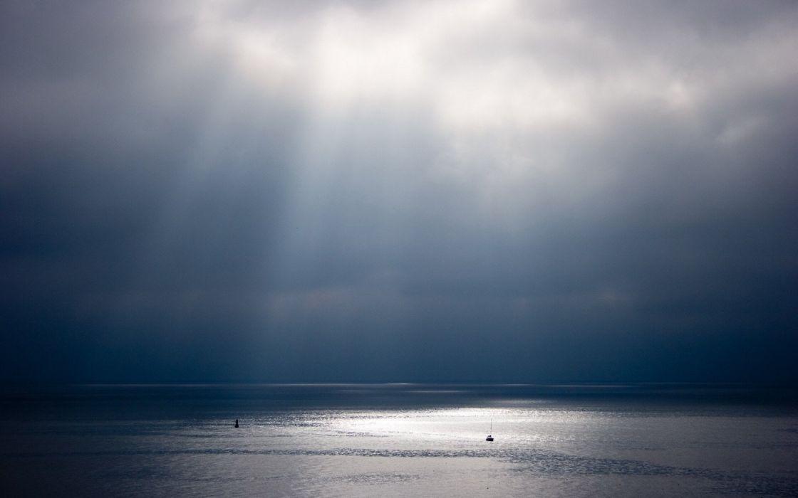 water Sun horizon skylines sea wallpaper