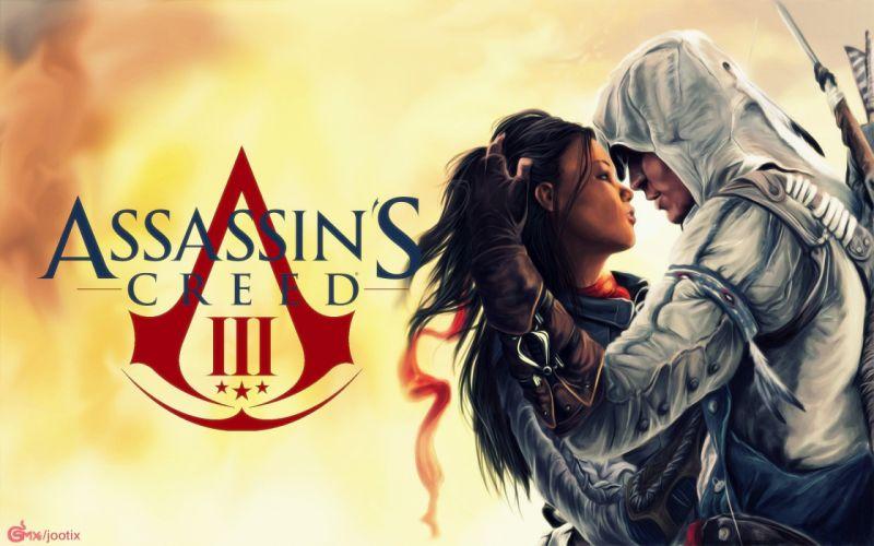 love kissing Assassins Creed 3 wallpaper