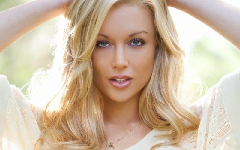 blondes women blue eyes pornstars Kayden Kross faces headshot wallpaper