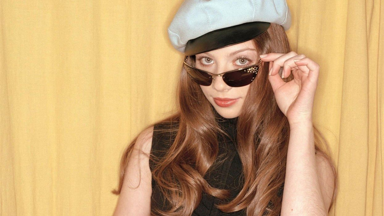 brunettes women Michelle Trachtenberg sailors sunglasses wallpaper
