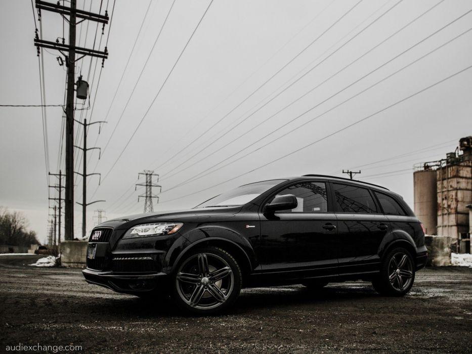 line Audi Q7 SUV black cars German cars wallpaper