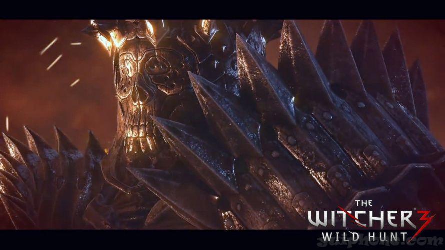 WITCHER 3 fantasy warrior skull armor poster d wallpaper