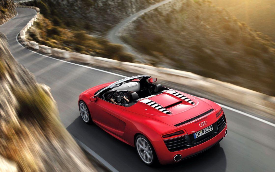 landscapes cars Audi roads Audi R8 GT Spyder wallpaper