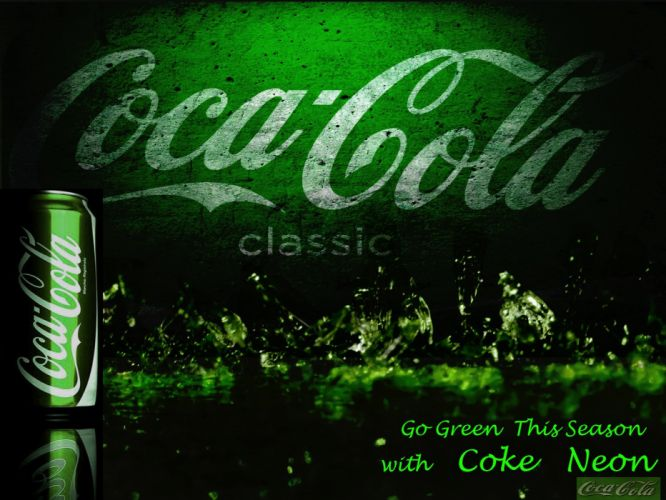 Coca-Cola drinks pop soda neon wallpaper